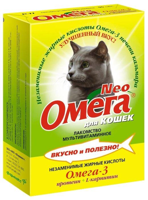 Витамины Омега Neo для кошек с протеином и L-карнитином,