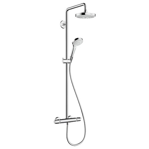 Душевая стойка hansgrohe Croma Select S 180 2jet Showerpipe 27253400 комбинированное душевая система hansgrohe croma select e 180 2jet showerpipe 27258400