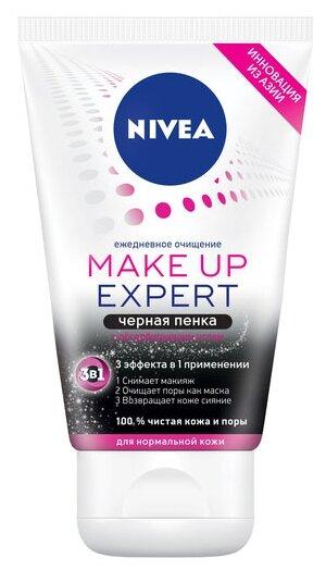 Nivea пенка чёрная для умывания 3в1 для нормальной кожи