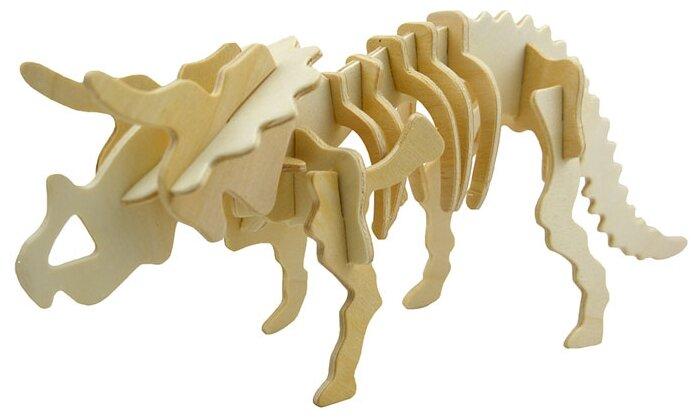 Сборная модель Мир деревянных игрушек Трицератопс (Ж001),,