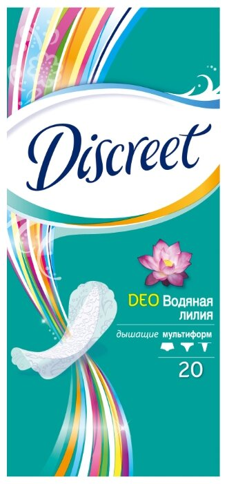 Discreet прокладки ежедневные Deo Water Lily Multiform 20 шт.