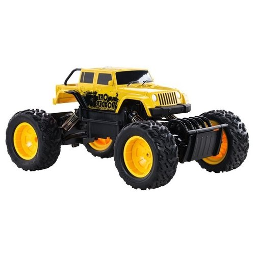 Купить Монстр-трак Rastar Rock Crawler Action (59100) 1:18 33 см желтый, Радиоуправляемые игрушки