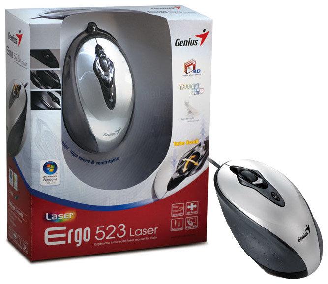 Мышь Genius Ergo 523 Laser Grey USB