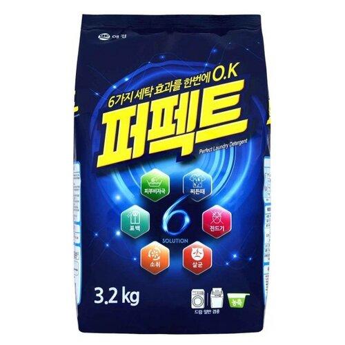 Стиральный порошок KeraSys Perfect 6 Solution 3.2 кг пластиковый пакетСтиральный порошок<br>