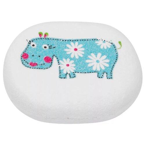 Губка ROXY-KIDS Hippo с хлопковым покрытием белый/голубой