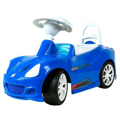 Купить Каталка-толокар Orion Toys Спорткар (160) со звуковыми эффектами синий, Каталки и качалки