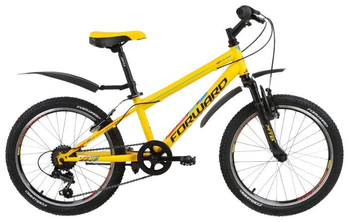 Подростковый горный (MTB) велосипед FORWARD Unit 2.0 (2018) желтый 10.5