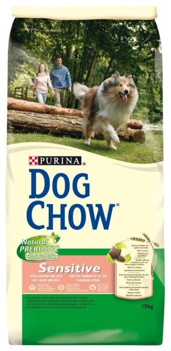 Корм для собак DOG CHOW для здоровья кожи и шерсти, лосось 15 кг