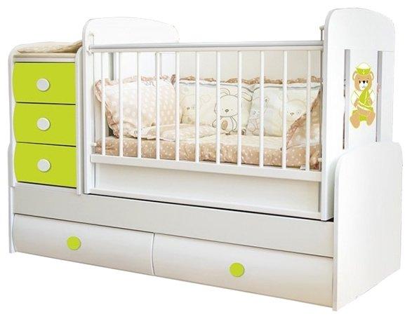 Кроватка трансформер glamvers comfort plus