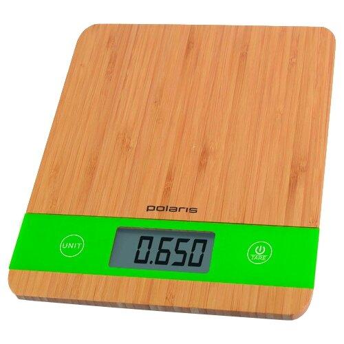 Кухонные весы Polaris PKS 0545D бамбук кухонные весы polaris pks 1044dg