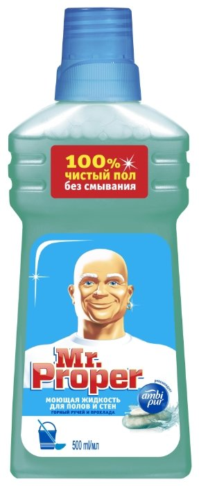 Mr. Proper Моющая жидкость для полов и стен Горный ручей