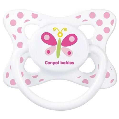 Купить Пустышка силиконовая анатомическая Canpol Babies Summertime 18+ (1 шт) розовый, Пустышки и аксессуары