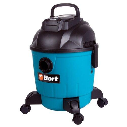 Строительный пылесос Bort BSS-1218 1200 Вт синий/черныйПрофессиональные пылесосы<br>