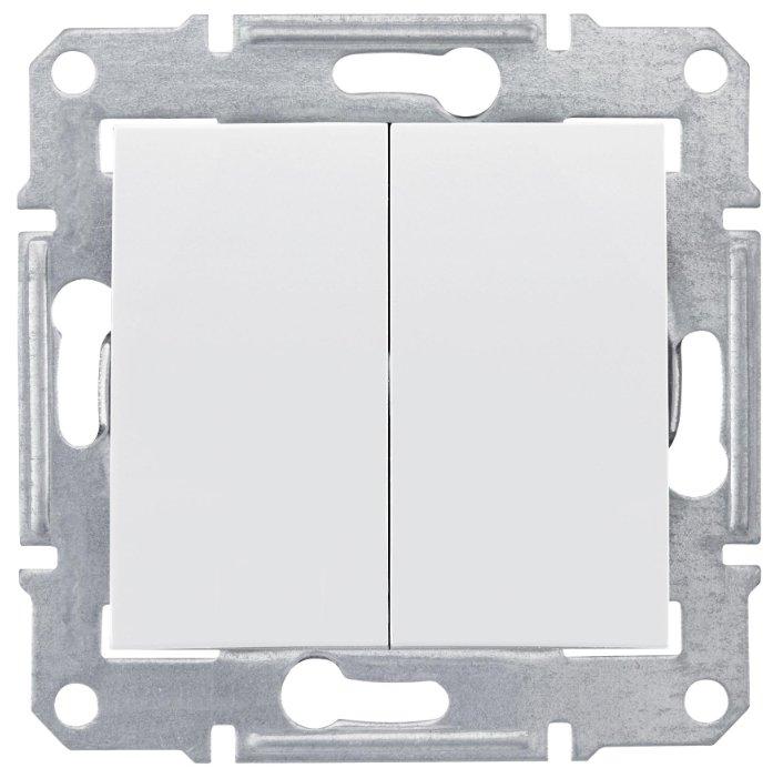 Выключатель 2х1-полюсный Schneider Electric SEDNA SDN0300121, 10А , белый