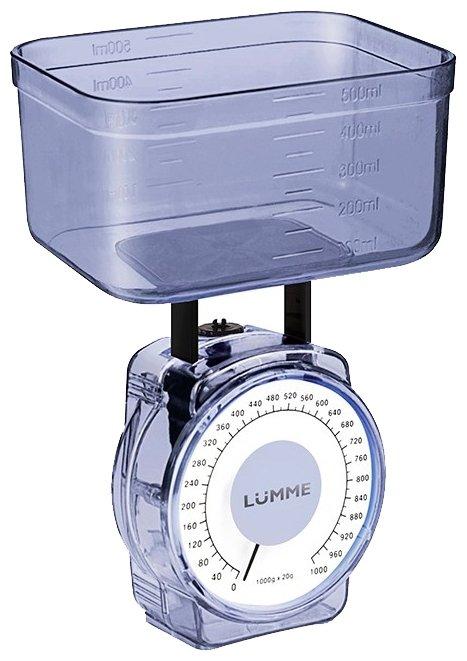 Кухонные весы Lumme LU-1301 синий сапфир
