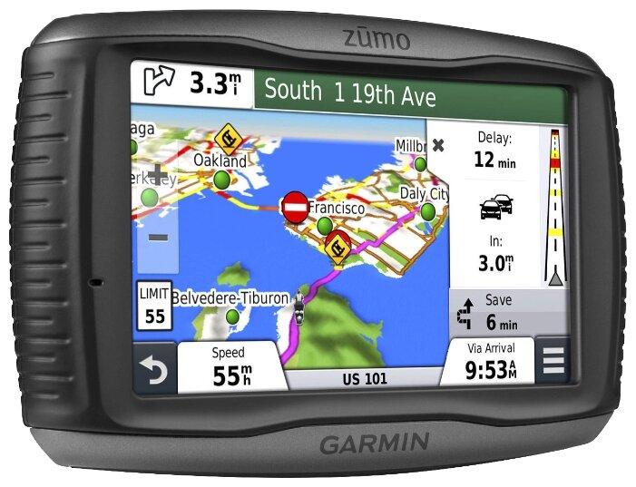 Garmin ZUMO 590, 595 питание для автокрепления на стекло (010-12110-02)