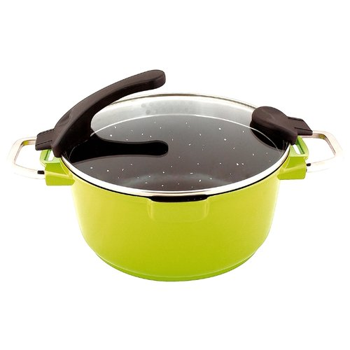 Кастрюля GIPFEL Chic 7 л, оливковый кастрюля 7 0 л gipfel chic 2383