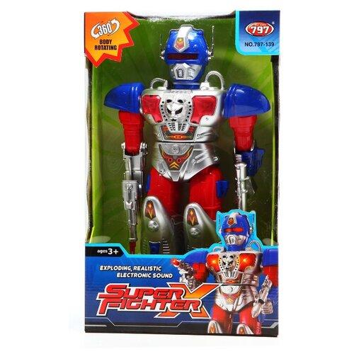 Купить Робот Shantou Gepai Super Fighter 797-139 серебристо-красно-синий, Роботы и трансформеры