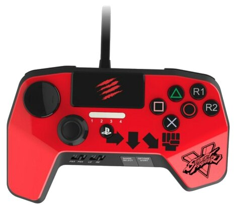 Mad Catz Геймпад Mad Catz Street Fighter FightPad PRO for PS 4/3 KEN