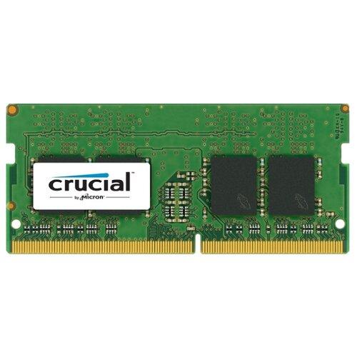 Купить Оперативная память Crucial DDR4 2400 (PC 19200) SODIMM 260 pin, 8 ГБ 1 шт. 1.2 В, CL 17, CT8G4SFS824A