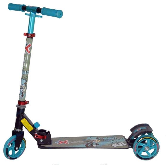 Самокат Explore Scooty Rich toys 125/100 мм белый трехколёсный