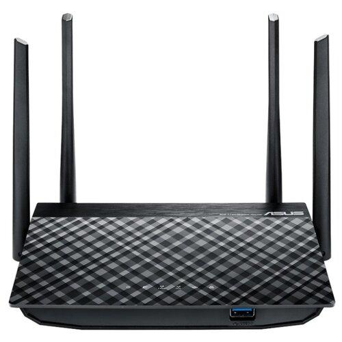 Wi-Fi роутер ASUS RT-AC58U черный limoni антивозрастной крем для век со змеиным ядом 25 мл limoni syn ake