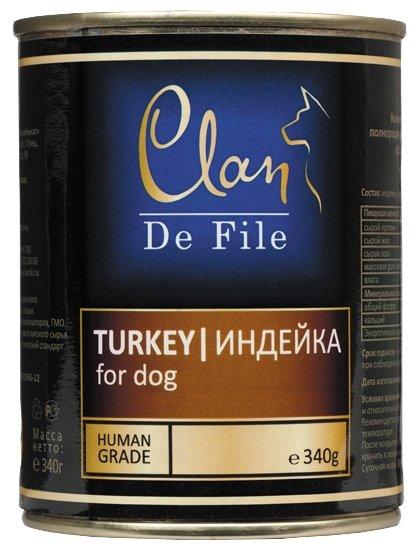 Корм для собак CLAN De File Индейка для собак (0.340 кг) 1 шт.