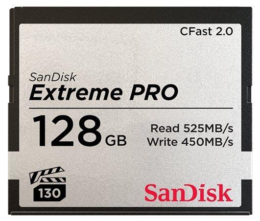Карта памяти SanDisk Extreme PRO CFast 2.0 525MB/s 128GB