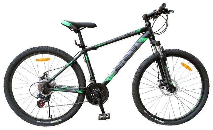 Горный (MTB) велосипед STELS Navigator 500 MD 26 V020 (2018) черный/зеленый 18