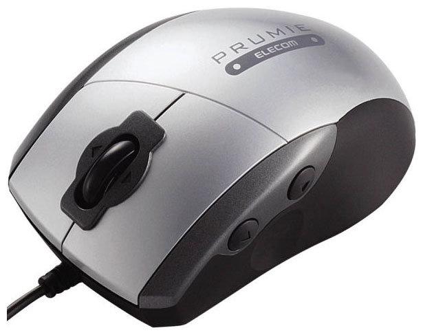 Мышь Elecom M-P2UP2RSV Silver USB