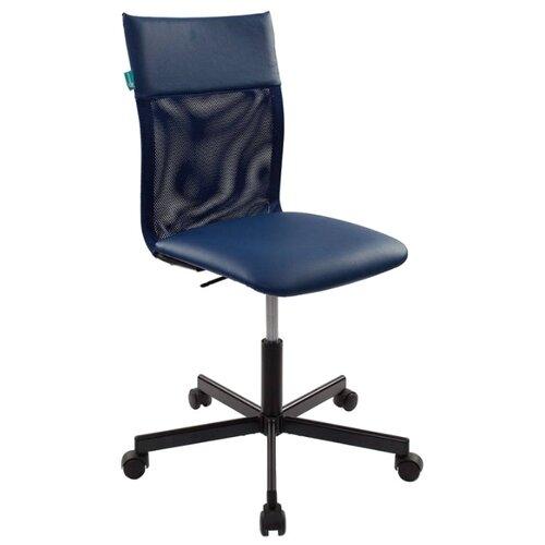 Компьютерное кресло Бюрократ CH-1399, обивка: искусственная кожа, цвет: blue кресло бюрократ ch 1399 на колесиках искусственная кожа серый [ch 1399 grey]