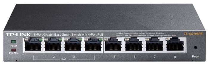 TP-LINK Коммутатор TP-LINK Easy Smart TL-SG108PE