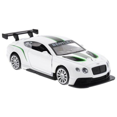 Купить Легковой автомобиль Пламенный мотор Bentley Continental GT3 (870141) 1:43 11 см белый, Машинки и техника