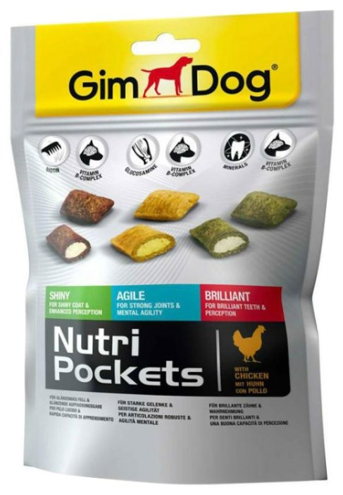 Лакомство для собак GimDog Nutri Pockets Mix