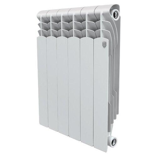 цена на Радиатор секционный алюминий Royal Thermo Revolution 500 x10 теплоотдача 1111.5 Вт, 10 секций, подключение универсальное боковое Bianco Traffico