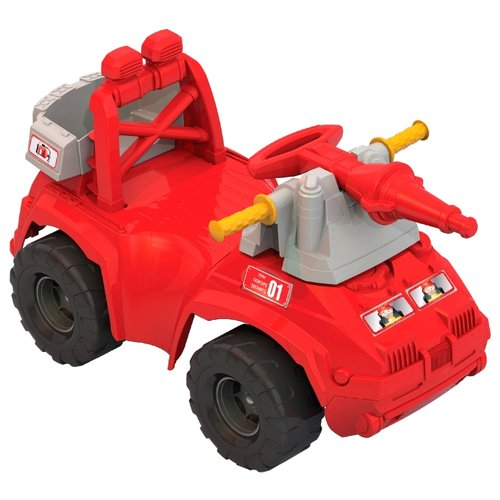 Купить Каталка-толокар Нордпласт Пожарная машина (431014) красный, Каталки и качалки