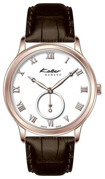 Мужские часы kolber примечательны своим интересным сочетанием разных сортов золота и натуральной кожи, которая выгодно оттеняет переливы граней корпуса.