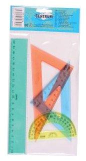 CENTRUM Набор линеек пластиковых 3 шт (80746)