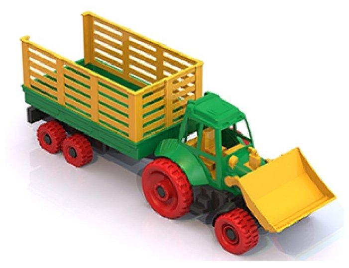 Машинка Нордпласт Трактор с грейдером и прицепом 053