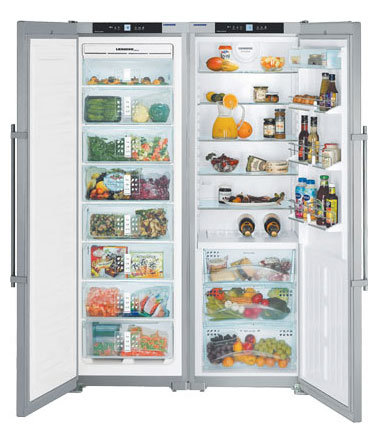 Холодильник Side by Side Liebherr SBSes 7253-24 001 серебристый