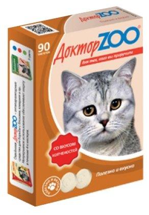 Доктор ZOO Витамины для кошек со вкусом копченостей