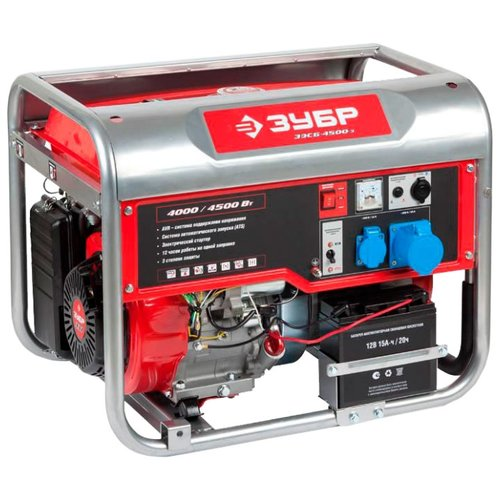 Бензиновый генератор ЗУБР ЗЭСБ-4500-Э (4000 Вт) генератор бензиновый зубр зэсб 4000 э