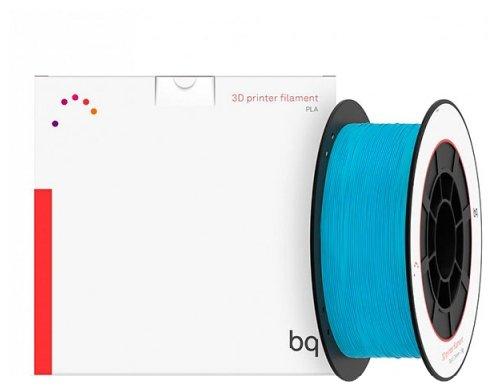 PLA пруток BQ 1.75 мм голубой (topaz blue) 1 кг