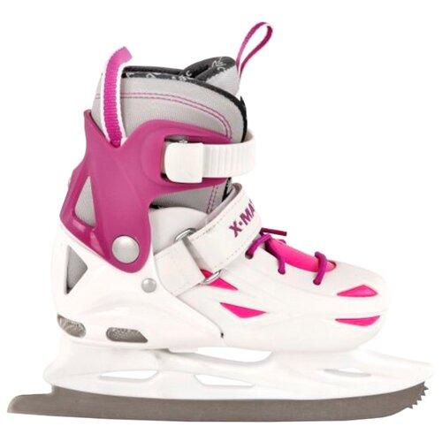 Детские прогулочные коньки X-Match 64594/64595/64596 для девочек, белый/розовый р. 28-31