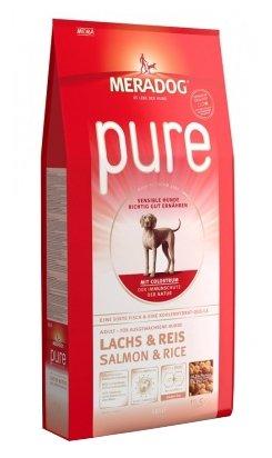 Корм для собак Meradog Pure лосось и рис