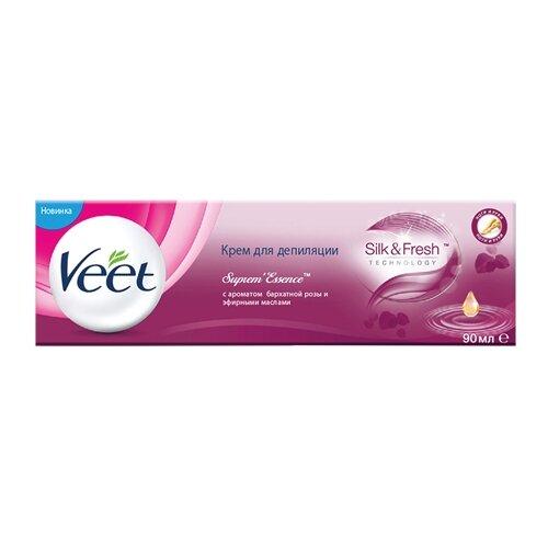 Veet Крем для депиляции SupremEssence с ароматом бархатной розы и эфирными маслами 90 млСредства для депиляции<br>