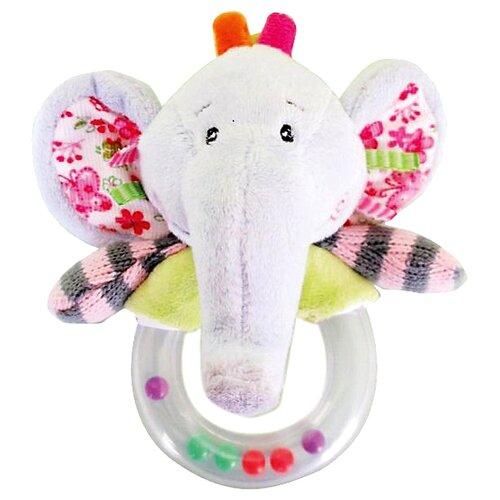 Купить Погремушка Жирафики Слонёнок Тим 93585 серый/зеленый/розовый, Погремушки и прорезыватели
