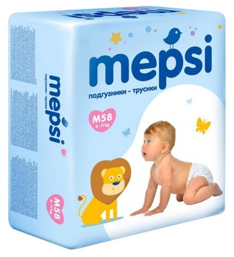 Купить Mepsi трусики M (6-11 кг) 58 шт. по выгодной цене на Яндекс ... 2aca6b619c9