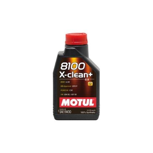 Моторное масло Motul 8100 X-clean+ 5W30 1 л моторное масло motul 8100 x clean fe 5w 30 1 л