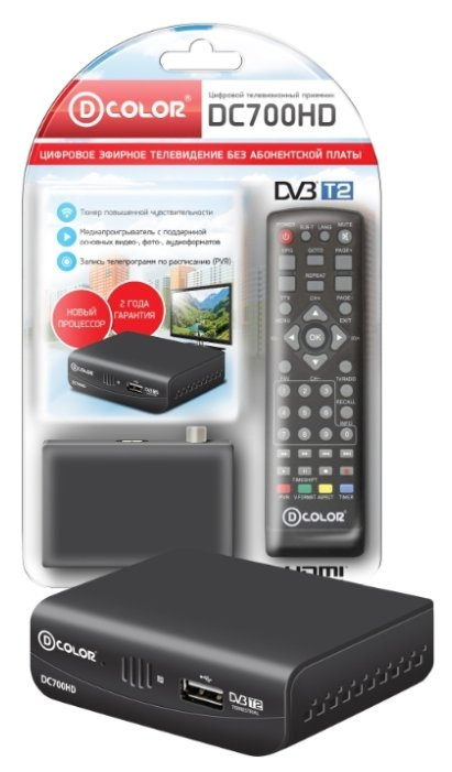 D-COLOR TV-тюнер D-COLOR DC700HD